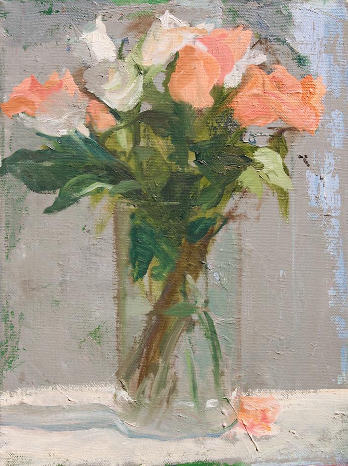 Glass Vase Oil Painting
