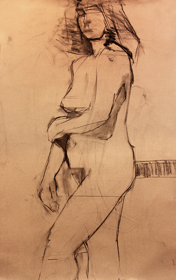 Nocturne Style Charcoal on Paper