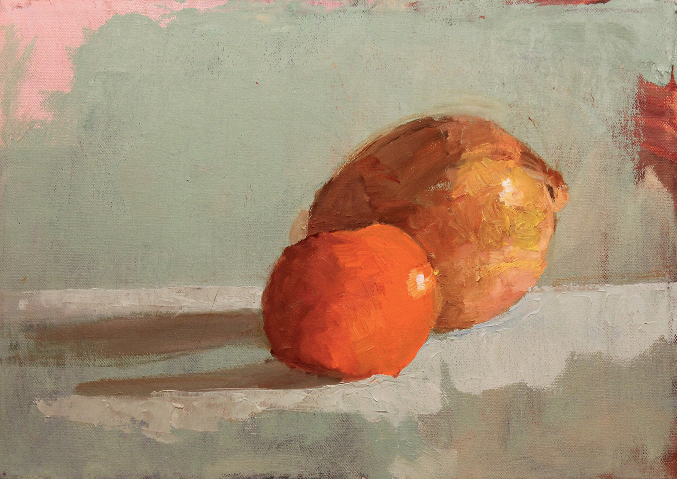 Onion Study Oil Painting