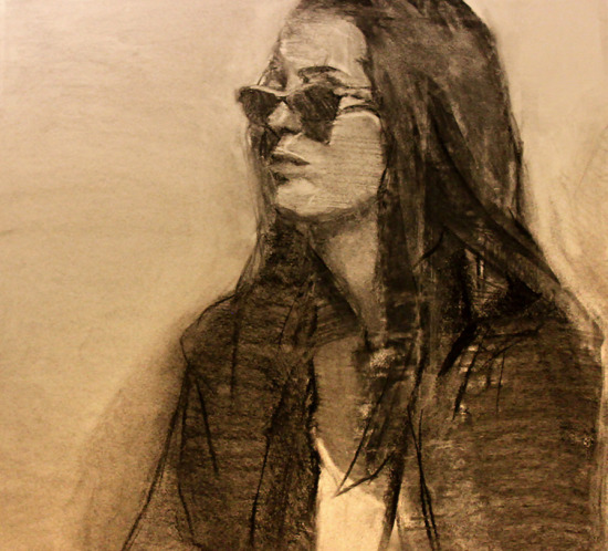 Spectator Charcoal Drawing