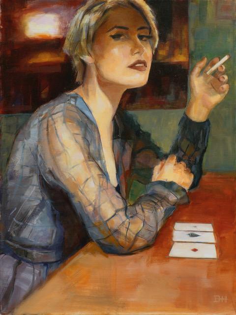 Woman Smoking Painting